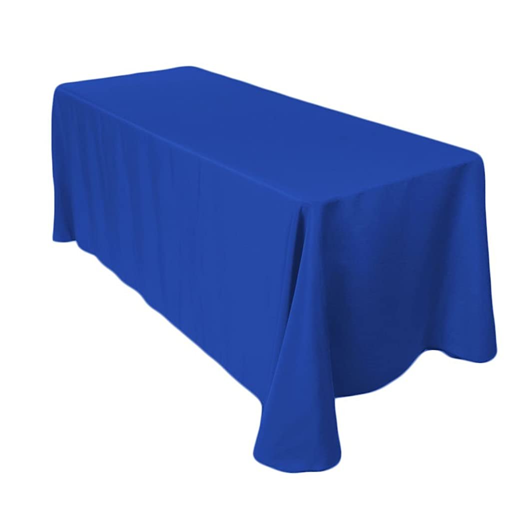Gee Di Moda Rectangle Tablecloth - 90 x 156 Inch - Royal Blue Rectangular Table Cloth for 8 Foot Table in Washable Polyester - Great for Buffet Table, Parties, Holiday Dinner, Wedding & More