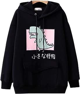 Womens Teens Animal Anime Cute Emo Dinosaur Cosplay Cartoon Shirt Hoodie Hoody Top Jumper Sweater