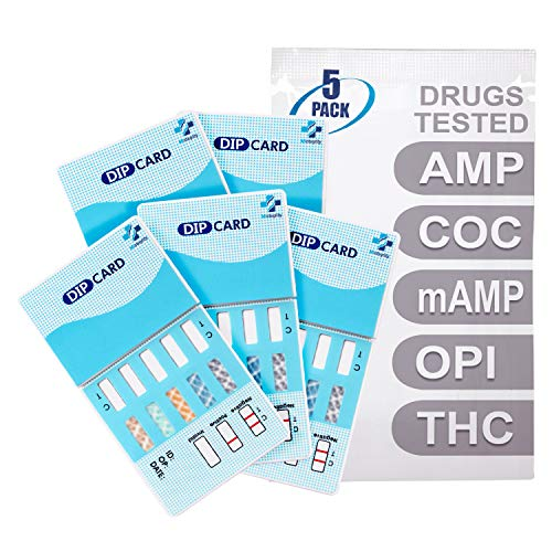 MiCare [5pk] - 5-Panel Urine Drug Test Card (AMP/COC/mAMP/OPI/THC) #MI-WDOA-254