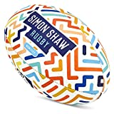 Simon Shaw - Balón de rugby para rugby (talla 3)