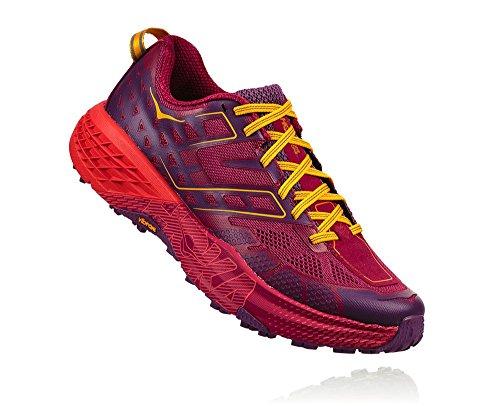 Hoka One One Speedgoat 2 Woman Shoes Running, Red (Cherriesjubilee/purplepas) 40 EU