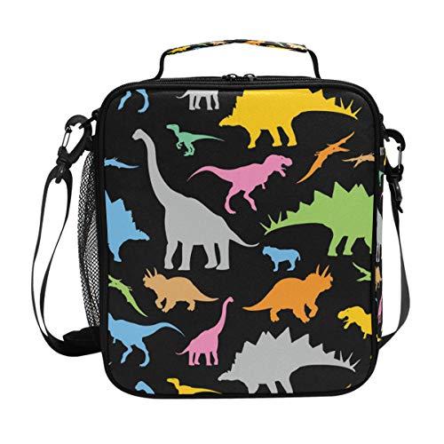 Isoa Dinosaurier Dm_9 Isolierte Lunchtasche mit Eisbeutel für Erwachsene/Herren/Damen/Kinder, wasserabweisend, auslaufsicher, weiche Kühltasche, Thermobox für die Arbeit, Schule/Picknick