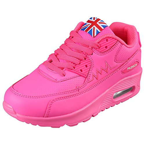 PADGENE Femme Baskets Course Gym Fitness Sport Chaussures Rose Taille EU 39