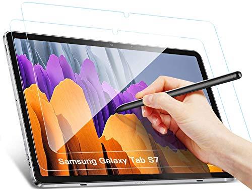 Benazcap Bildschirmschutz für Samsung Galaxy Tab S7, Ro&ed Corners 2.5D, 9H Festigkeit, gehärtetes Bildschirmfolie Schutzglas Panzerglas für Samsung Galaxy Tab S7 11 Zoll 2020, 2 Stück