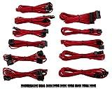 Corsair CP-8920152 Premium Sleeved 'RMi-, RMx,- SF und Typ4 (Generation 3)-Serie' Netzteil Pro-Kabel-Set rot