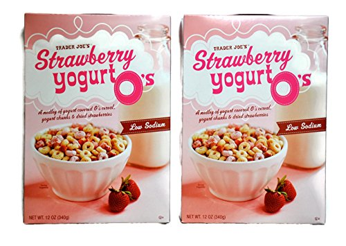 Trader Joe's Strawberry Yogurt O's - Two 12 oz. boxes