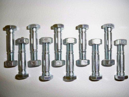 Lot de 10, épingles de cisaillement (Boulons) et noix, remplace Ariens 532005, 53200500, 05907100, modèle : 53200500, Home & Garden Store