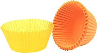 Mombake Premium Orange Greaseproof Cupcake Liners Muffin Paper Baking Cups Standard Size, 200-Count