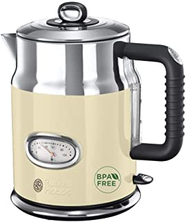 Russell Hobbs Retro Vintage Waterkoker, 1,7L, Crème/Off-White