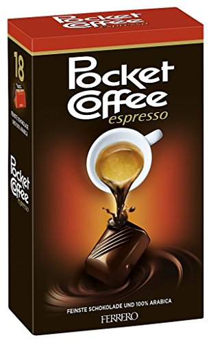 Pocket Coffee - Espresso, 100% Arabica - 18pz - 225 g