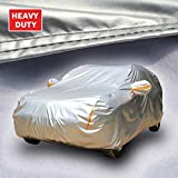 Tecoom Super Heavy Duty Multiple Layers SUV Cover All Weather Waterproof Windproof Reflective Snow Sun Rain UV Protective Outdoor with Buckles and Belt Fit 196-210 inches SUV