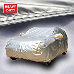 MULTILAYER PROTECTION: Made using a combination of multiple heavy-duty layers of fabric that has a smooth leather-like feel which coupled with the soft fleece layer provides your car with the right protection throughout the year in every season while...