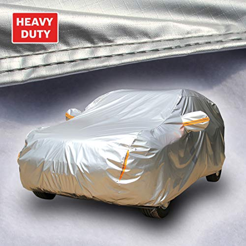 Tecoom Super Heavy Duty Multiple Layers SUV Car Cover All Weather Waterproof Windproof Reflective...