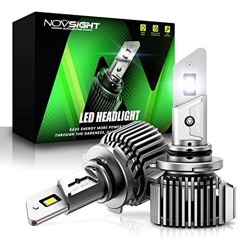 NOVSIGHT 9005/HB3 LED Headlight Bulbs, 100W 20000 Lumens 600% Extremely Brighter High Power 9005 LED Headlight Bulbs Hi/lo Beam Conversion Kit, 6500K Cool White, IP68 Waterproof, Pack of 2