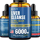 Liver Cleanse Detox & Repair Formula – Liver Support Dietary Supplement with Milk Thistle 6000 mg...