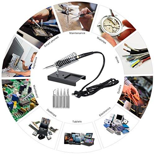 URCERI Fer à Souder Electrique Kit de Soudage 60W 26 en 1 Kit Soudure avec 6PCS Embouts...