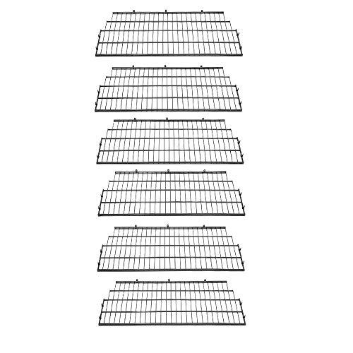 Suncast Vertical Storage Shed Organization Wire Shelf Rack Shelving (6 Pack)