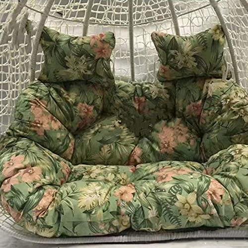 Cojín de silla doble Papasan con almohada grande columpio silla cojín para exterior jardín espesar colgante huevo hamaca silla cojín cojín cojín