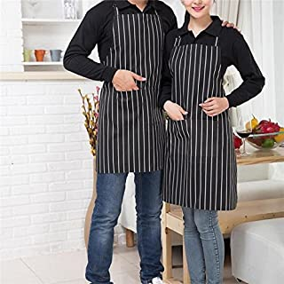 2-Pack Unisex Aprons for Men and Women with Pockets Water Resistant Adjustable Kitchen Aprons Dish Washing Grooming Chef A...