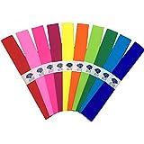 33 Hojas de Papel Crepe, De 51 x 75 cm, Utilizado Para la Boda, Cumpleaños Decoraciones del Partido, 10 Colores
