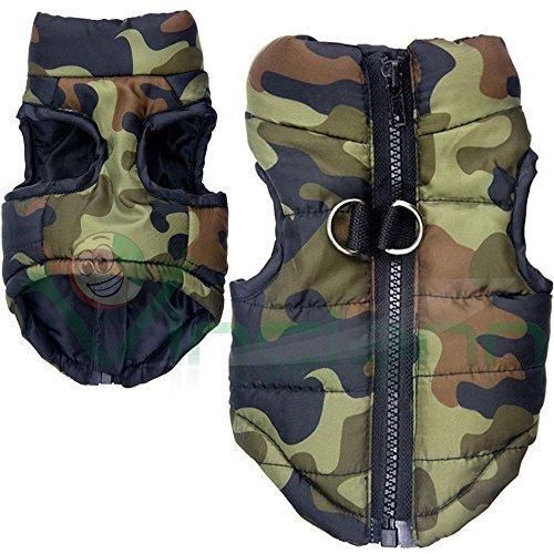 Vinciann Giubotto giubbottino Mimetico Invernale Cappotto Imbottito Militare Vestito Cane Taglia XS