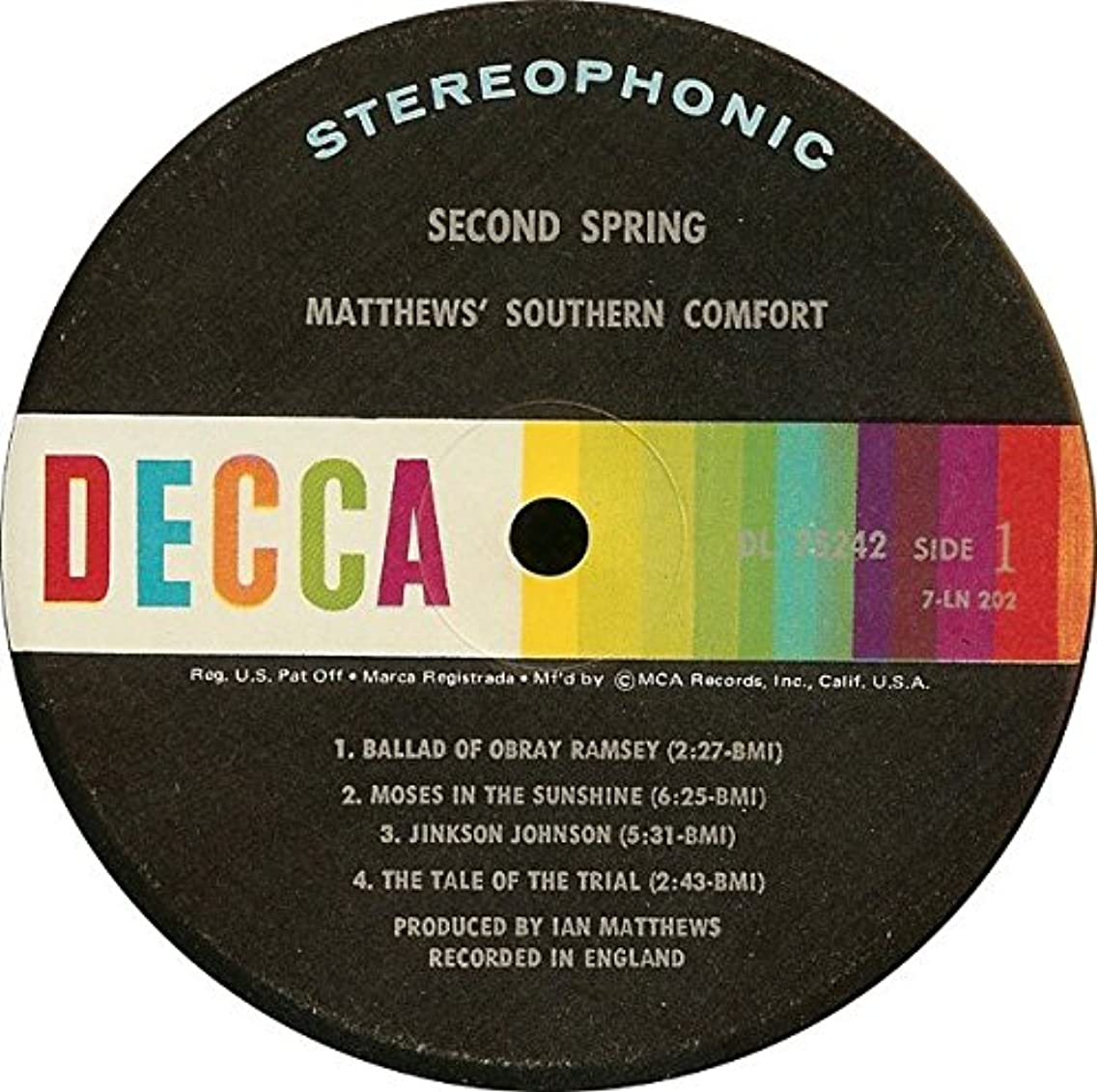 Matthews' Southern Comfort lp second spring