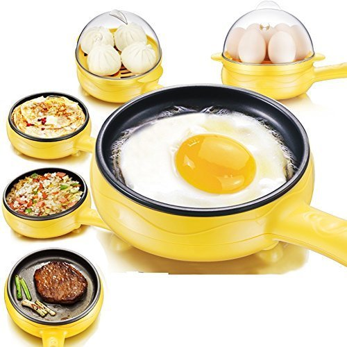 Vishal Smart Mall Multifunction Non-Stick Electric Frying Pan Egg Omelette Pancakes Steak Egg Boiler Electric Skillet