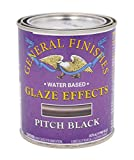 General Finishes Water Based Glaze Effects, 1 Pint, Pitch Black