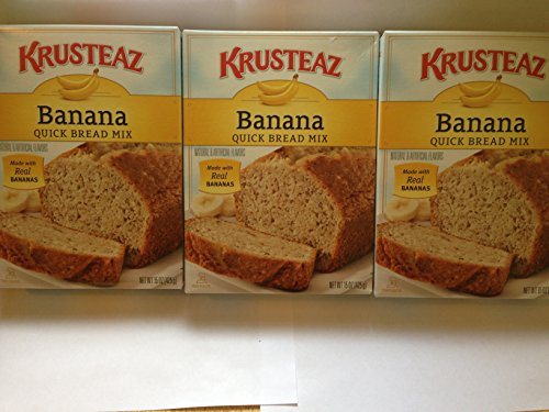 Krusteaz Banana Quick Bread 15 OZ (Pack of 3)
