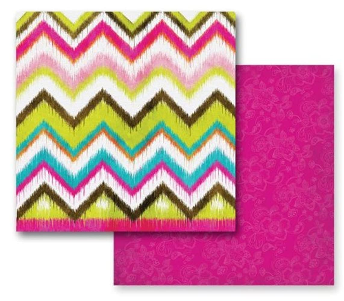 Prima 841706 12 by 12-Inch Paisley Road Double-Sided Cardstock Paper, Bhangra, 10-Pack