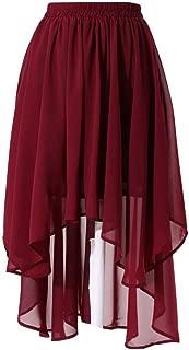 Lisong Women's Asymmetrical Chiffon Swimwear Party Beach Skirt