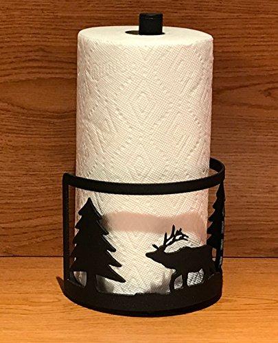 Made in USA Elk Themed Steel Paper Towel Rack