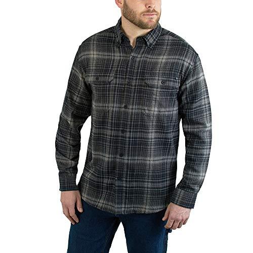 Wolverine Men's Escape Long Sleeve Flannel Shirt, Onyx Plaid, XL