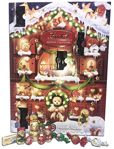 Lindt Milk Chocolate 2019 Teddy Bear Advent Calendar for Kids and Adults