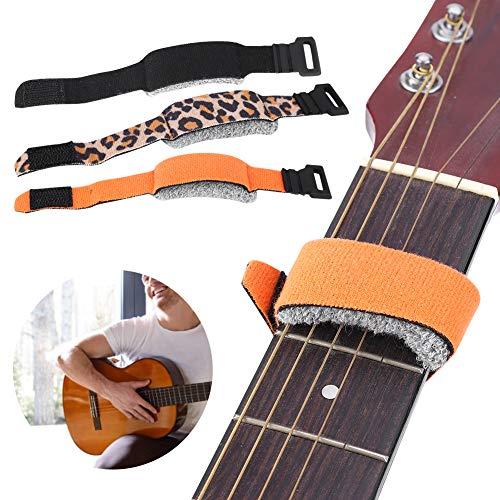 Guitarra Base String Mute Bajo eléctrico Amortiguador de guitarra Guitar Strings Muter Guitar Mute String Dampener para eliminar ruido 20cm(naranja)