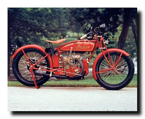 Old Red Indian Classic Vintage Motorcycle Wall Decor Art Print Posters (16x20)