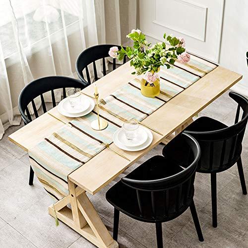 Creek Ywh Tafelkleed, tafelloper, feesttafelkleed, Nordic tafelvlag, modern, minimalistisch, tafelkleed, decoratie, salontafel, tafelkleed, strepen, schoenenkast, doek, doorzichtig