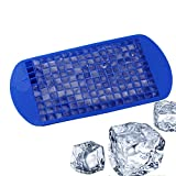 AUFELL (Set of 2) 160 Grids Ice Cubes Mold Square Shape Silicone Mini Ice Cubes Tray Kitchen Bar Pudding Mould...
