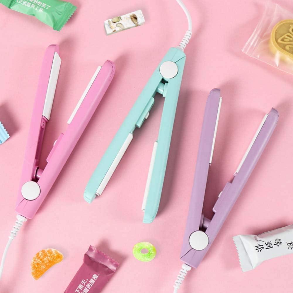 Portable Mini Creative Eten Vacuum Sealer Multi-funcational Eten Vacuum Sealer Bag Clip draagbare elektrische Heat sluitmachine, Pink dmqpp (Color : Pink) Blue