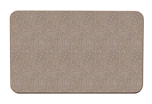 House, Home and More Skid-Resistant Carpet Indoor Area Rug Floor Mat - Pebble Beige - 2 Feet X 3 Feet
