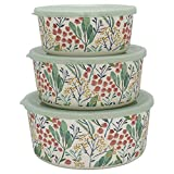 GreenGate Round Box Megan White Set of 3