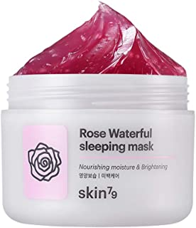 [SKIN79] Rose Waterful Sleeping Mask 3.38 fl.oz. (100ml) - Skin Soothing & Brightening Overnight Mask with Damask Rose Water, Fresh Moisture Capsule Oil Layer Gel for Skin Nourishing