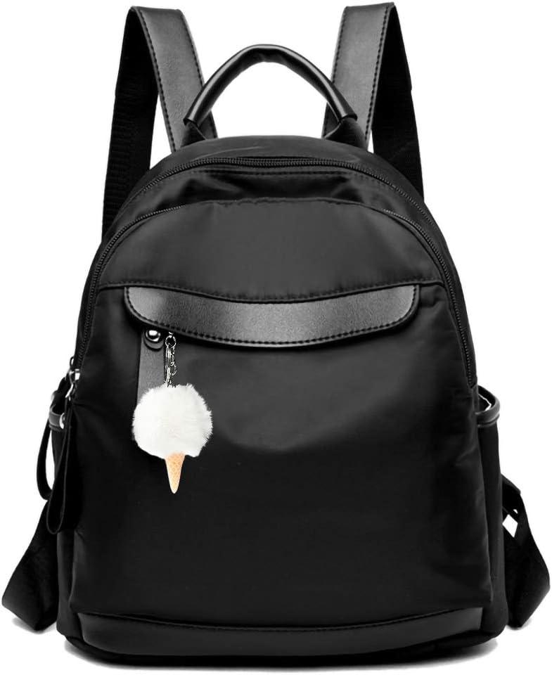 Cute Mini Backpack Purse for Girls Teens Women Purses Canvas Leather Pom Backpack Shoulder Bag
