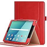Hülle für Samsung Galaxy Tab S3 9.7 - iHarbort PU-Leder Hülle Schutzhüllen Hülle Cover für Samsung Galaxy Tab S3 9.7 Zoll SM-T820 T825 mit Kartensteckplatz & Auto-Weck/Schlaf-Funktion, Rot