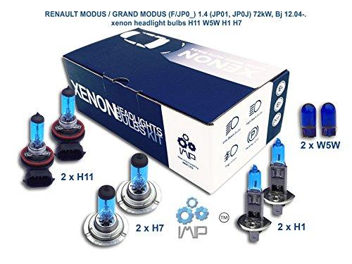 Ampoules de phares xénon lumineux| DIY, Kit simple d'utilisation | Compatible H11 H7 H1 Plus ampoules éclairage latéral gratuites W5W
