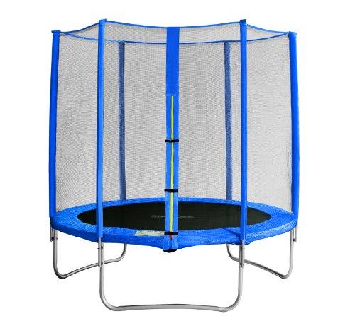 SixBros. SixJump Gartentrampolin 1,85m - Kindertrampolin für den Garten, Outdoor-Trampolin, inkl. Sicherheitsnetz, blau, TB185/1917