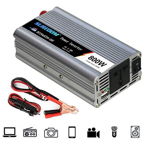 GBHJJ Spannungswandler 800W, 12V/24V 220V Modified Sine Wave Wechselrichter Power Inverter Mit Steckdose Und USB Power Inverter, FüR Auto, Boot, Camping, Reisen,12vTo110v
