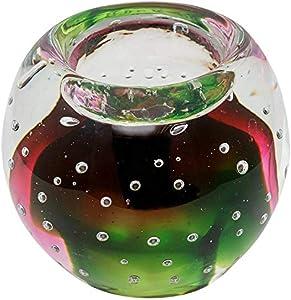 Portavelas de Cristal candelero Vidrio Estilo Antiguo Murano 9cm (d)