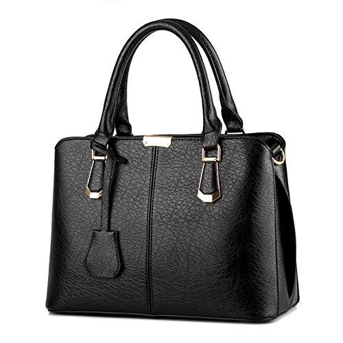 Purses and Handbags for Women Fashion Messenger Bag Ladies PU Leather Top Handle Satchel Shoulder Tote Bags (purple)