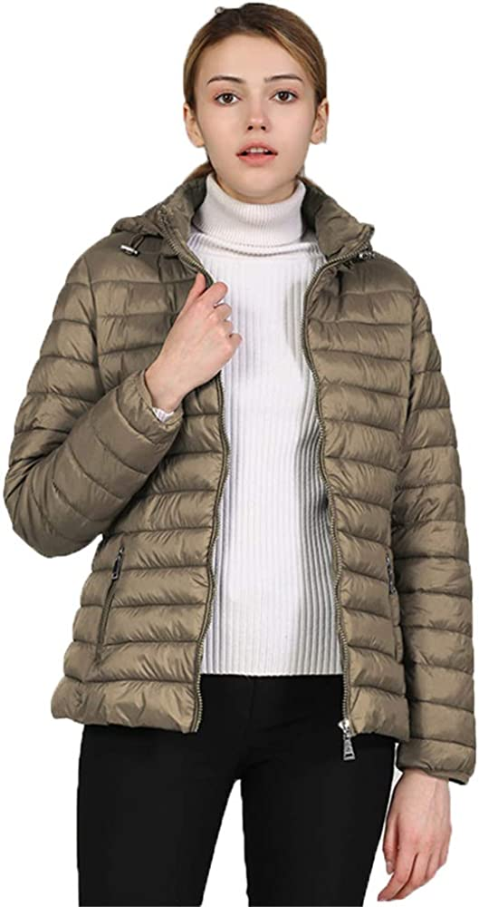 LEQUNE Women's Fashion Lightweight Winter Puffer Jacket Miami Mall L Hooded Import